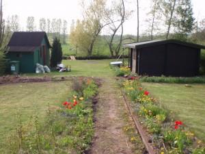 Grundstück 2009 mit 2 Hütten