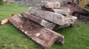 Das Ex-Fundament vom Gartenchalet